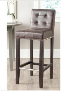 Brownleatherbarstool s300