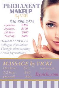 Permanent makeup   massage by vicki s300