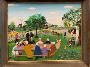Amish painting for auction s300