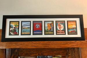 Spirit of chattanooga framed medley pop art print s300