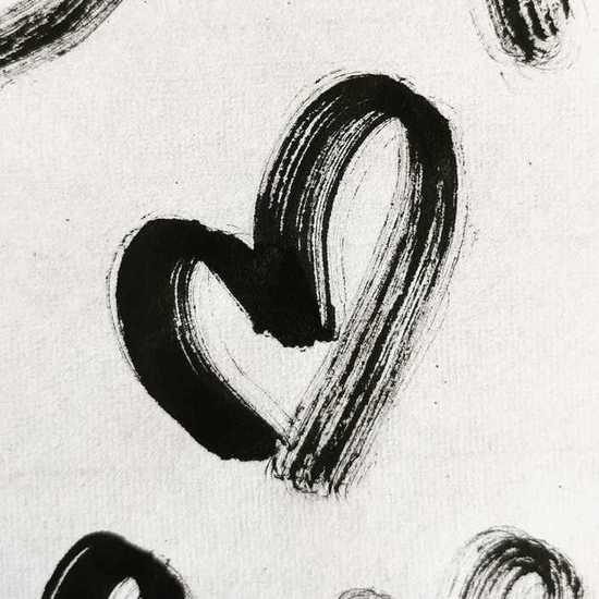 Brushstroke Heart by @karen_tattoo