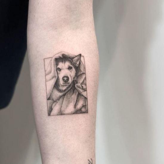 Micro Pet Portrait by @zeke.tattoo