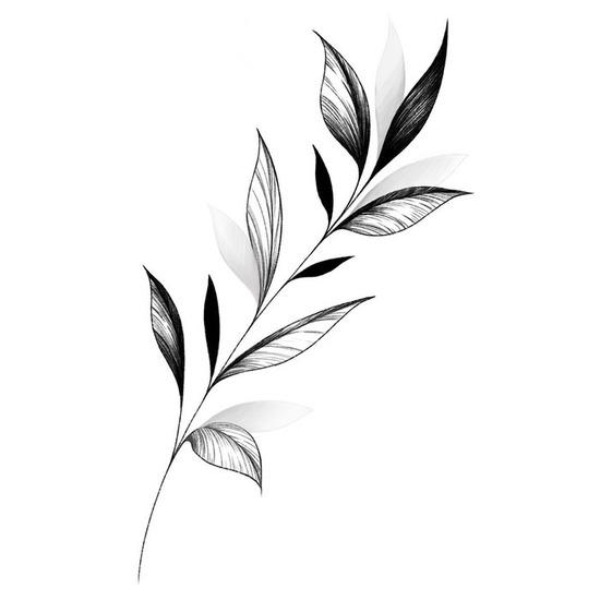 Fineline Leaf Branch by @anqiixxwuu