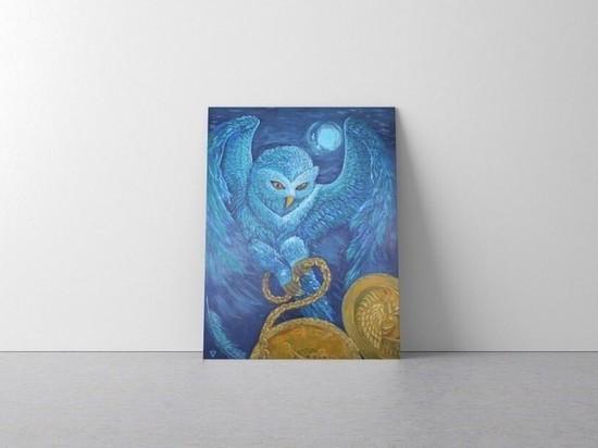 Acrylic Painting - Owl by @iamveno